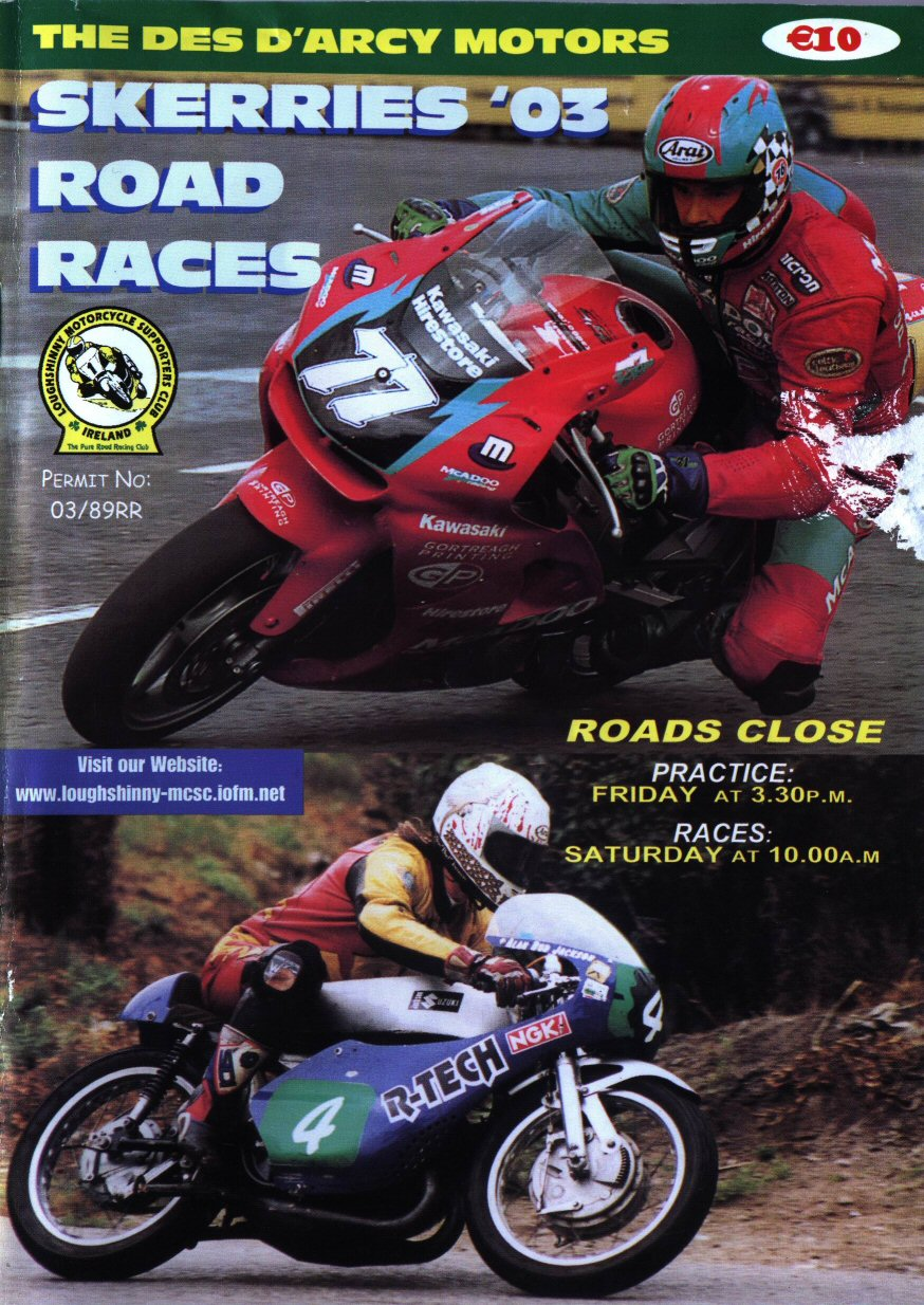 Cover of the race program for 2003